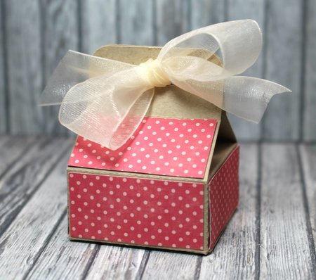 Simple Short Ribbon Tied Box