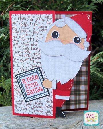 Peeker Santa Card