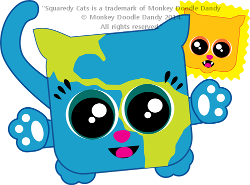 Earth Day Squaredy Cat
