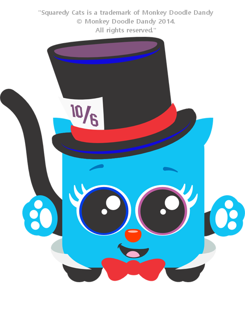 Mad Hatter Squaredy Cat