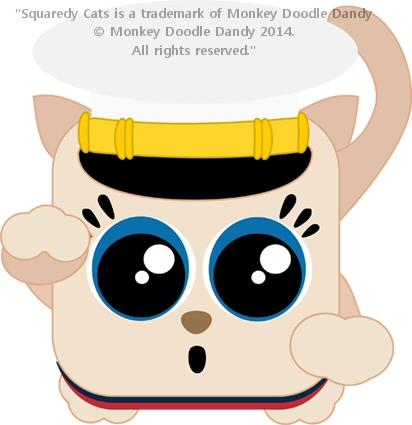 Marine Squaredy Cat