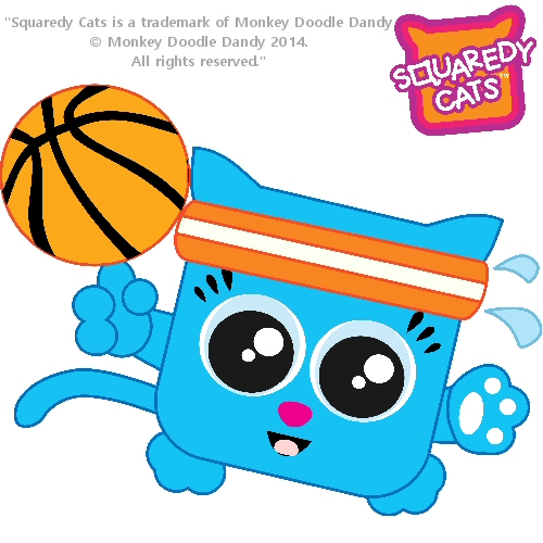 Love Basketball Squaredy Cat