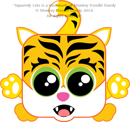 Tiger Lily Squaredy Cat