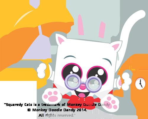 White Rabbit Squaredy Cat