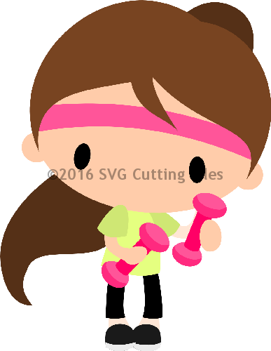 Chibi Work out Girl