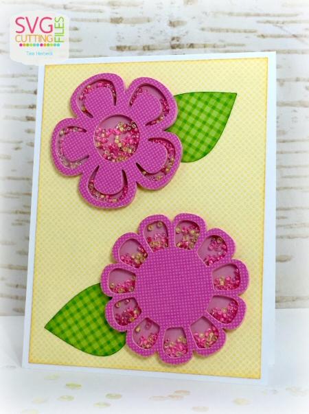 Flowers Shaker Card