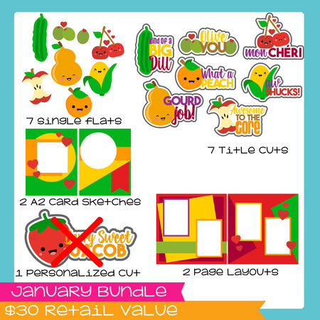 January 2018 Bundle Fruit Veggie Puns