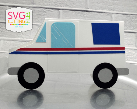 Mail Truck Shaped Card