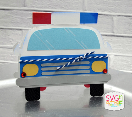 Police Car Shaped Card