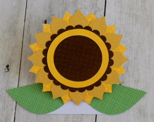 Accordian Sunflower Card