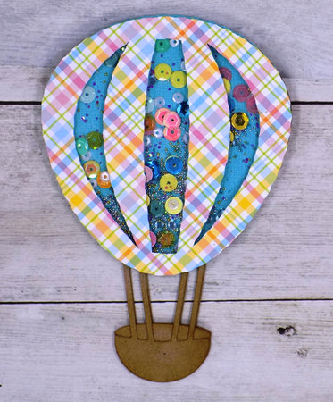 Hot Air Balloon Shaker Card