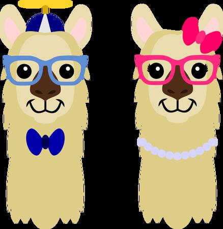 Nerdy Llama Heads