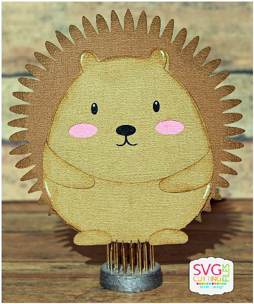 Hedgehog Slider Card